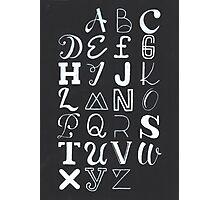 Alphabet typography Photographic Print