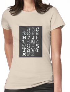 Alphabet typography Womens Fitted T-Shirt