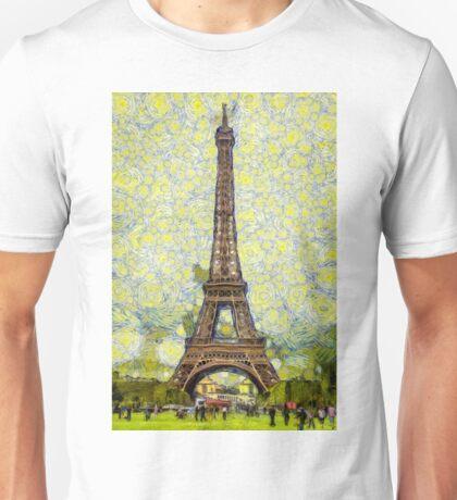 Starry Eiffel Tower Unisex T-Shirt