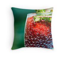 Fizzy strawberry Throw Pillow
