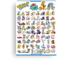 Gotta' Derp 'em all! Canvas Print