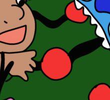Cute Lilo and Stitch on christmas Sticker