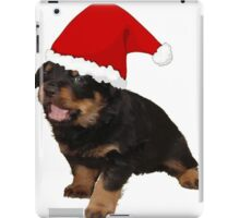 Happy Holidays Rottweiler Christmas Greetings iPad Case/Skin
