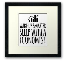 Funny 'Wake Up Smarter. Sleep With a Economist' T-Shirt and Gifts Framed Print