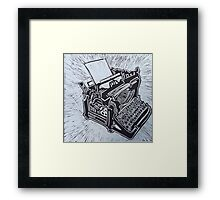 Typewriter, an old fashioned one Framed Print