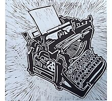 Typewriter, an old fashioned one Photographic Print