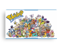 Gotta' Derp 'em all! (Group photo!) Canvas Print