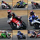 MONTAGE OF MOTORCYCLES by AfricanImages