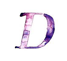 Alphabet D Photographic Print