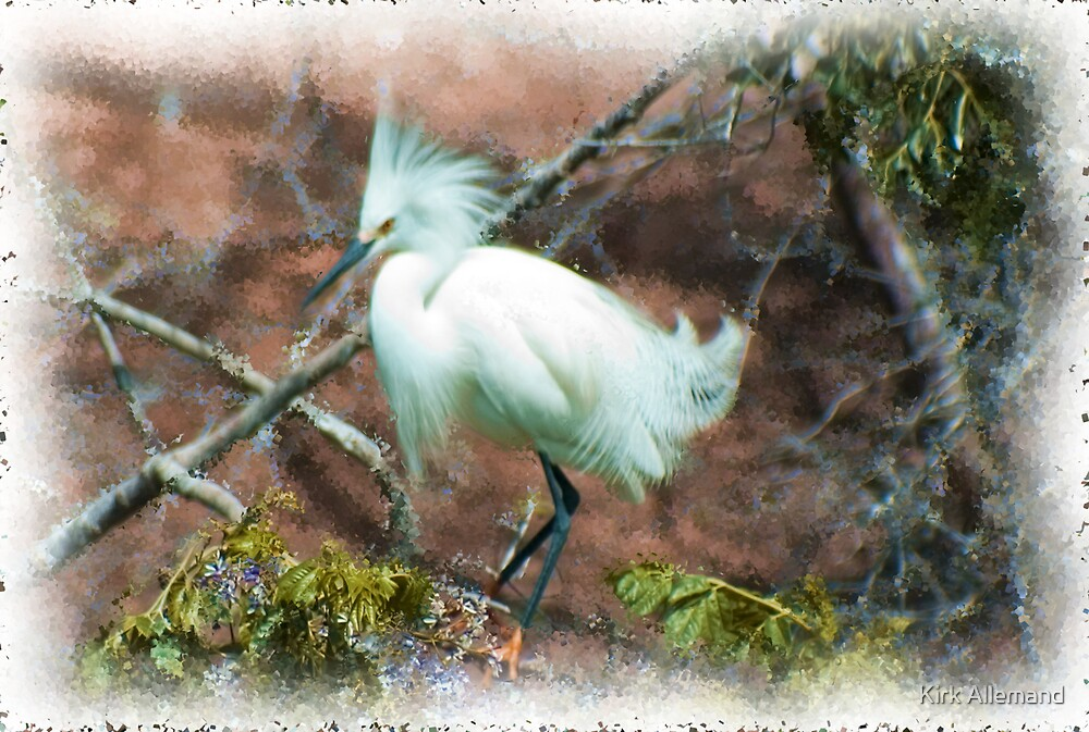 Snowy Egret Painting by Kirk Allemand