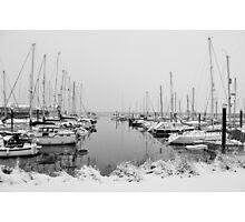 Marina in Winter Photographic Print