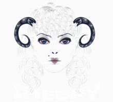 Sheep as Girl with Horns Baby Tee