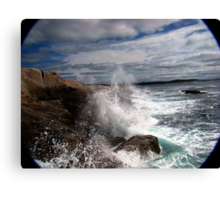 Peggy's Cove Splash Canvas Print