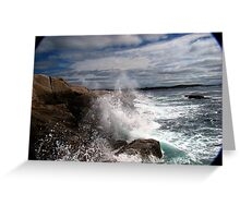 Peggy's Cove Splash Greeting Card