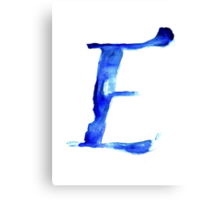 Alphabet E Canvas Print