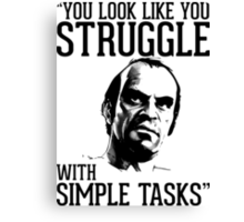 GTA V Trevor Simple Tasks Canvas Print