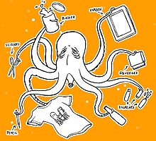 Screen Print Octopus by BlackStain