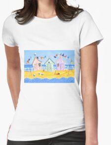 Summer Beach Huts Womens Fitted T-Shirt