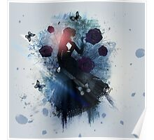 Abstract gothic woman background Poster