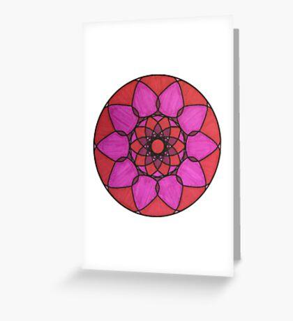 Sour Cherry Mandala Greeting Card