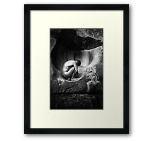In Utero (Black and White) Framed Print