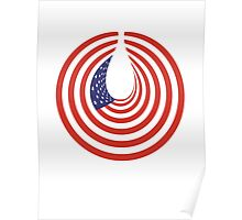 American Flag, Stars & Stripes, USA, In Circle Poster