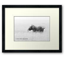 Elephant dash Framed Print