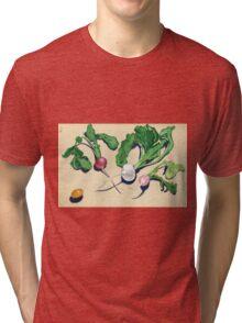 Easter Egg Radishes in Gouache Tri-blend T-Shirt