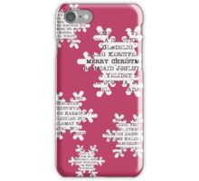 Paper snowflakes (in red)  iPhone Case/Skin