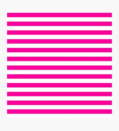 pink and white stripes | Pattern Photographic Print