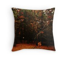 Pine Needle Forest Throw Pillow