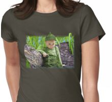 Green tee Womens Fitted T-Shirt