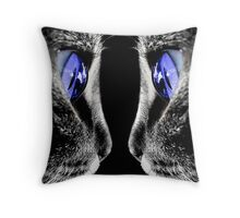 Blue Eyed Cat Throw Pillow