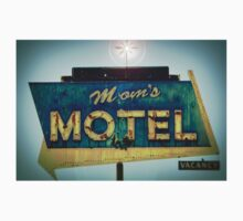 Mom's Motel T-shirt by Barbara Gordon