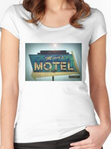 Mom's Motel T-shirt Women's Fitted Scoop T-Shirt