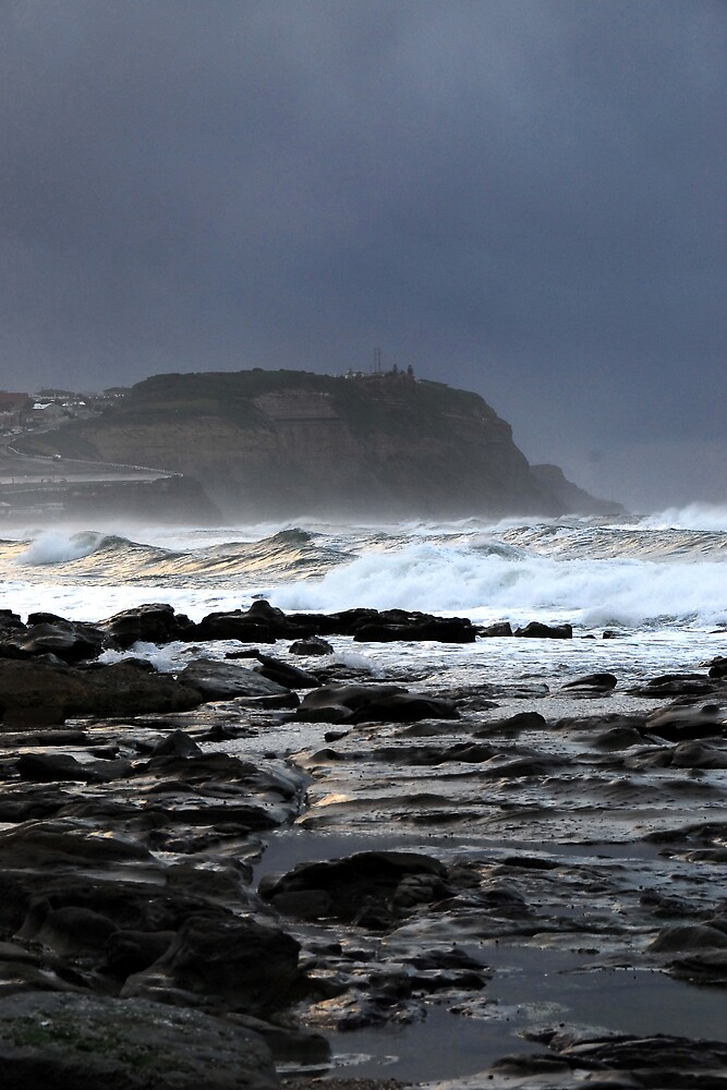 Gloom over Strezlecki Lookout - Newcastle by Paul Lamble