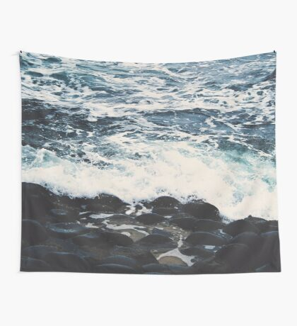 Rocky Sea Shore Wall Tapestry