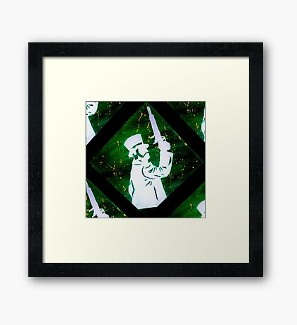 Haunted Mansion Duelist Silhouette 2 Framed Print