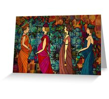 Follow me ladies  and celebrate ! Greeting Card