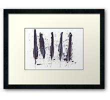 Five Ravens Framed Print