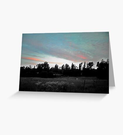 Sunset at Countryside Greeting Card