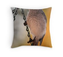 Noisy Miner at Sunset Throw Pillow