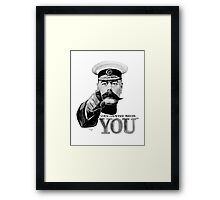 World War one, Lord Kitchener, WW1, Your Country needs you! Framed Print
