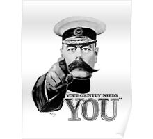 World War one, Lord Kitchener, WW1, Your Country needs you! Poster