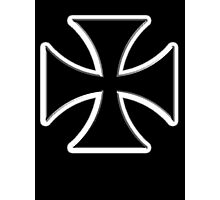 Iron Cross, Germany Military, Decoration, Medal, Honor, Biker symbol, Gangs Photographic Print