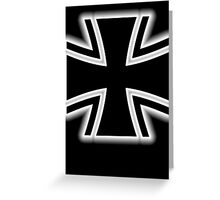 Germany, Iron Cross, Federal Defence, Bundeswehr Kreuz, Black Greeting Card