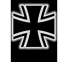 Germany, Iron Cross, Federal Defence, Bundeswehr Kreuz, Black Photographic Print