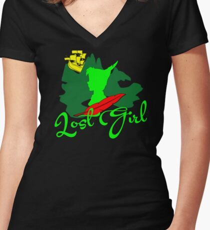 Lost Girl Women's Fitted V-Neck T-Shirt