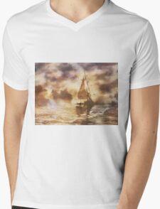 The Yellow Mist Mens V-Neck T-Shirt