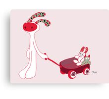 My red wagon (white) Canvas Print